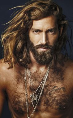 Maximiliano Patane ...and his hair tumbled over his naked shoulders...