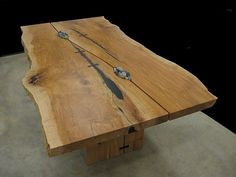 Live edge character gapped slab dining table | Live Edge Din… | Flickr