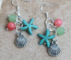 Earrings Sea glass Dangle Earrings 2 inches by InaraJewels on Etsy