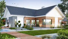 Encuentra las mejores ideas e inspiración para el hogar. Projekt domu ARCHON+ Dom w tawułach (G2) por ARCHON+ PROJEKTY DOMÓW   homify
