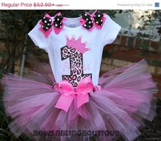 ON SALE First Birthday Outfit 1st Birthday by BowsNBlingBoutique