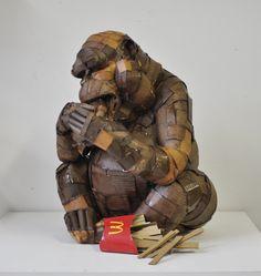 sculpture en carton   Les sculptures en carton de Laurence Vallières {rencontres France ...