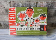 vintage NU MEDIA Screen-printing kit PROTOTYPE activity kit