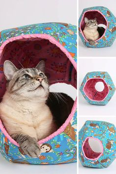 The CAT BALL cat bed made in monkey fabric, and 2016 is year of the Monkey. Is your cat a little monkey? We've noticed that many people who have purchased this cat bed design have ginger cats. Hmm... are ginger tabbies like monkeys? Use coupon code PIN10 to save 10% with your purchase!