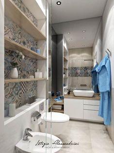 Studio in Milan: Modern bathroom by Letizia Alessandrini - yacht and interior design Source by corin Simple Bathroom Designs, Modern Bathroom, Small Bathroom, Bad Inspiration, Bathroom Inspiration, Casa Milano, Laundry In Bathroom, Deco Design, Bathroom Colors