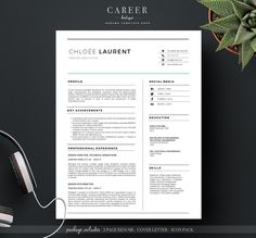 Rise & Grind Resume & cover letter Bundle with multiple page resume / CV and cover letter templates with modern sidebar layouts in an editable formate. Includes free social media icons. #resume #gethired #jobseeker
