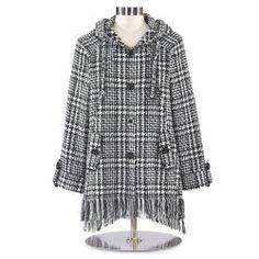 Chenille Black Houndstooth Jacket