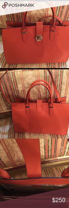 Ralf Lauren large bag Bright orange large bag Ralph Lauren Bags Satchels