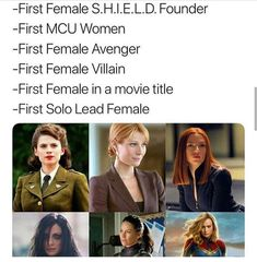 "Some special Women of MCU Which one is your favorite? Comments below Part of th… Some special Women of MCU Which one is your favorite? Comments below Part of the journey is the end."" Marvel Studios' is… Marvel Universe, Disney Marvel, Marvel Dc Comics, Marvel Heroes, Captain Marvel, Funny Marvel Memes, Marvel Jokes, Dc Memes, Avengers Memes"
