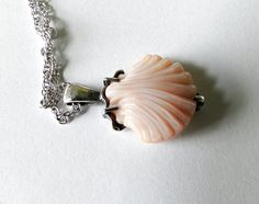 2 Day Sale Vintage pink conch shell by JewelryOnVintageLane