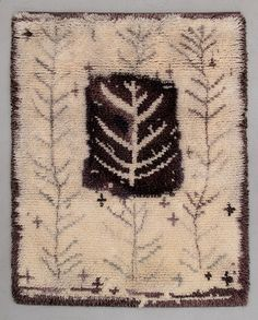 """VIOLA GRÅSTEN, Rya, """"Vinter"""". Ca 116 x 155 cm."""