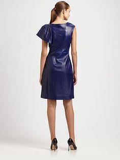 Milly - Fiona Leather Dress - Saks.com
