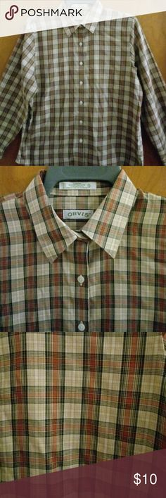 Men's Orvis Long Sleeve Shirt 👕 60% - Cotton / 40% - Polyester Excellent condition with no problems. Orvis Shirts Casual Button Down Shirts