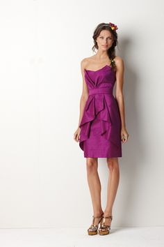 Chic bridesmaids dress in this years Pantone color of the year: Orchid