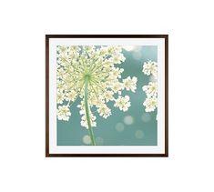 "Summer Meadow by Cindy Taylor, 25 x 25"", Wood Gallery, Espresso Mat"