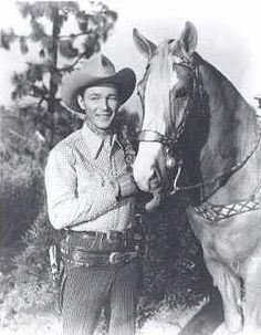 Roy Rogers & Trigger. My dad, when he was young,  looked so much like Roy Rogers. He was a cowboy too.❤