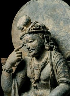 A Buddhist sculture from Kushan period. More