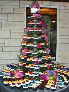 10 Tier CupCake Stand CupCake Tower Fully Adjustable by HelloFaith, $155.00