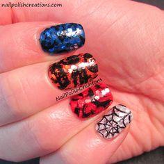 Nail Polish Creations: Glequin Halloween Skittle