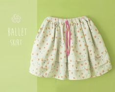 Ballet SKIRT pattern pdf - children sewing patterns - twirl and layered skirt for girls - 1 to 8 years