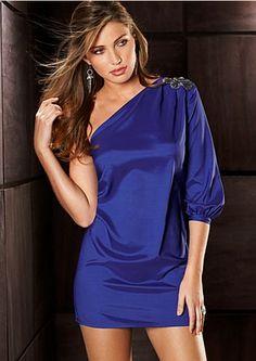 cobalt blue dress. definitely thinking about buying! $42