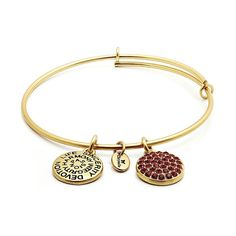 Chrysalis, July birthstone gold plated expandable bracelet