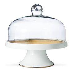 Dessert Stand 11in Porcelain White/Gold - Threshold™