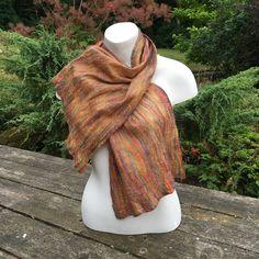 Multicoloured nuno felted merino wool and silk scarf £27.00