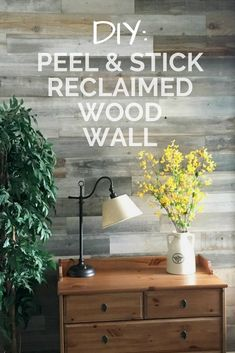 Reclaimed wood wall that you can peel and stick yourself!