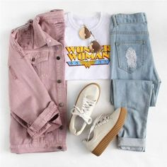 Pink Denim Jacket is part of Fashion outfits - Item Type Jackets Material Polyester, Cotton Material Denim, Cotton, Polyester Pink Denim Jacket, Denim Jacket Fashion, Jackets Fashion, Corduroy Jacket, Teen Fashion Outfits, Mode Outfits, Fashion Clothes, Womens Fashion, Style Clothes