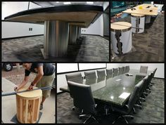Cantilevered Granite Table
