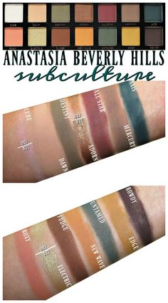 Anastasia Beverly Hills Subculture Eyeshadow Palette Review, Swatches, Eye Looks