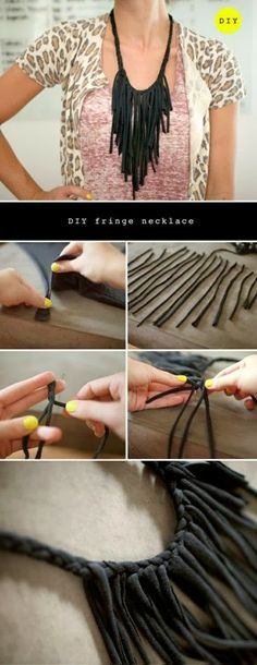 How To Make Fringe Necklaces - wonder what embroidery floss would look like?