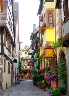 Medieval Village, Alsace, France  photo via thomas (my hubby was in this town, his family is from Alsace Lorraine region!)