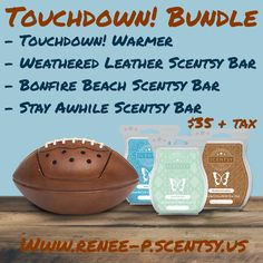 Touchdown! Bundle  Perfect for that sports fan in your life or Father's Day! 👍🏼🏈⚾️ Perfect gift ✅ 👊🏼  Contact me to order or shop on my website www.renee-p.scentsy.us
