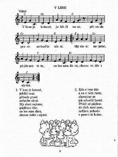 písnička o lese