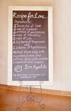Recipe for Love shower?