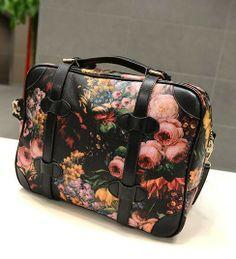 Fashion Flower Printing Women's Messenger Bag Women Oil Painting Shoulder Bags Ladies Vintage Laptop Bag Briefcase US $19.96