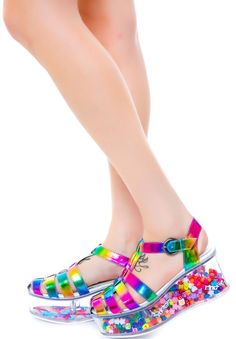 Super fun -- you can open the bottom and fill the heels with anything you like! Y.R.U. Rainbow Cherii