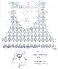 44c7aa4e3714 (594x700, 95kb) biela tunika diagram Crochet, Tops, Crocheting, Tank Tops, Chrochet, Haken, Blouses