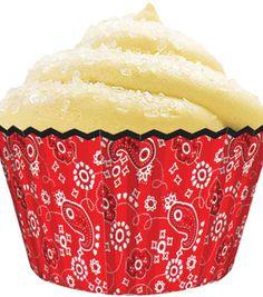 Standard Baking Cups 32/Pkg-Red Bandanna