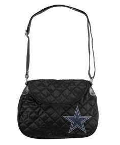 Dallas Cowboys Sport Noir Saddlebag Purse