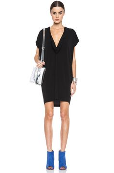 MM6 by maison martin margiela|Viscose-Blend Dress in Off Black