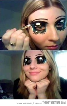 Anime Eyes. LOL love it...would be great for Halloween