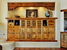 Pie Safe Entertainment Center - Spanish-Style Decorating Ideas on HGTV for my kitchen