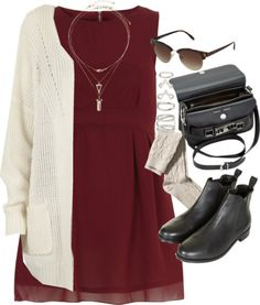 styleselection:  outfit for a casual autumn day by im-emma featuring spike jewelry