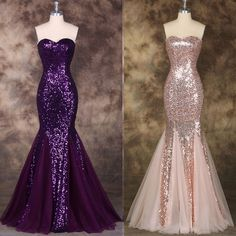 SEQUIN Long Formal Evening Gown Prom Dress Cocktail Party Wedding Bridal Mermaid #GraceKarin #BallGown #Cocktail