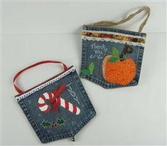 Turn Denim Pockets into Fabric Art Gift Bags