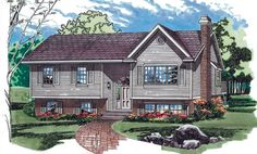 1000 images about house exterior remodel ideas on for Split level addition plans