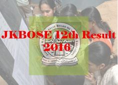 JKBOSE 12th Results 2016, J&K Board Higher Secondary Part Two Exam Results 2016
